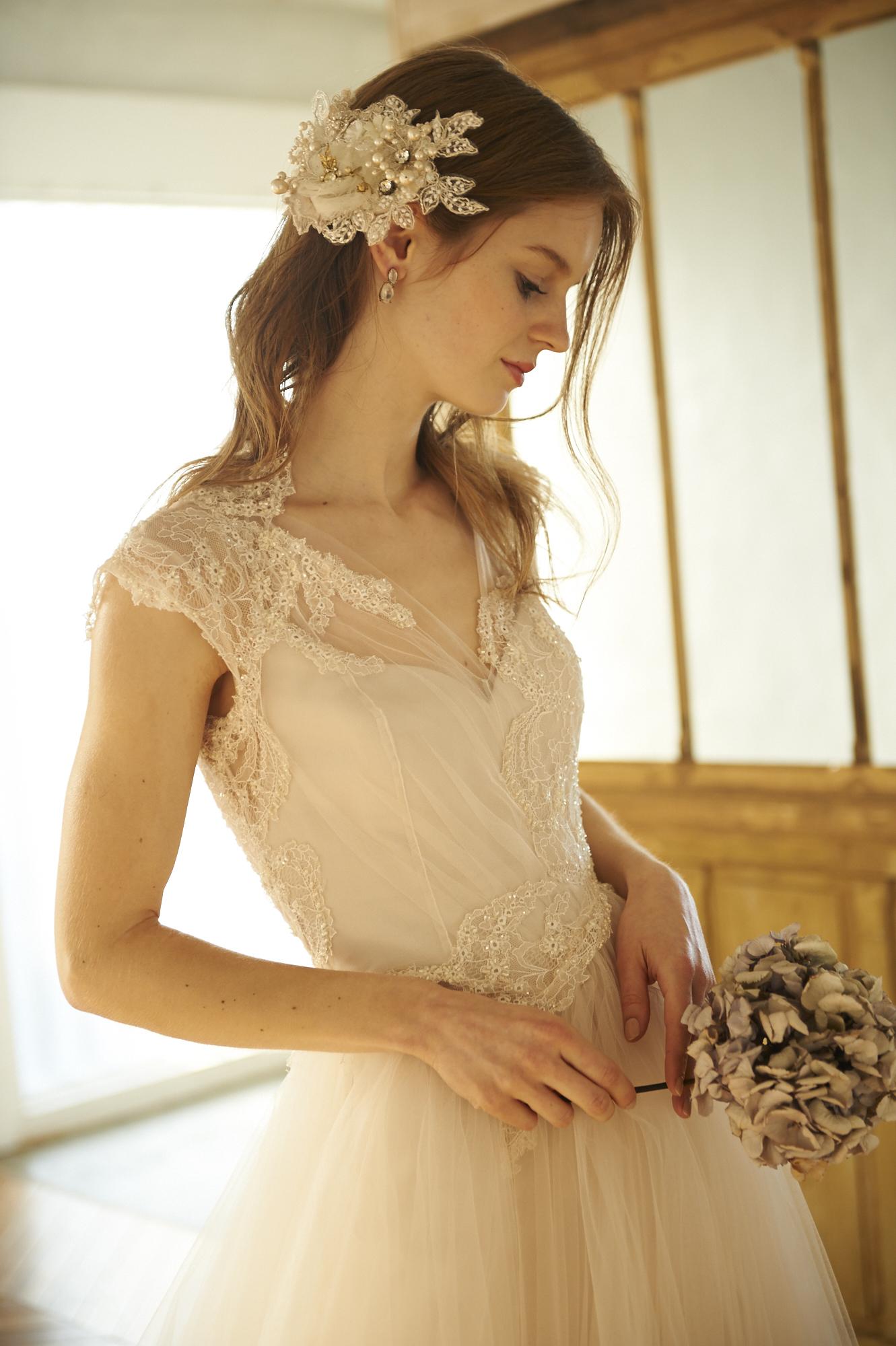 クリオマリアージュ ウエディングドレス ヘッドドレス