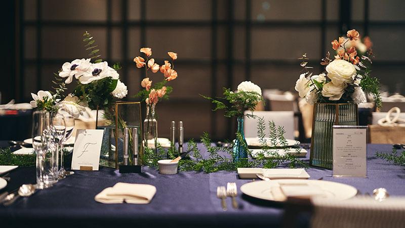 星名夫妻 披露宴 テーブルコーディネート