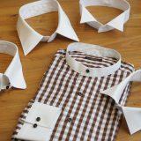シーンに合わせて衿を交換するシャツ