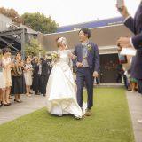 【ウエディングレポート】花嫁さま、花婿さま、お揃いのモチーフを取り入れたウエディング